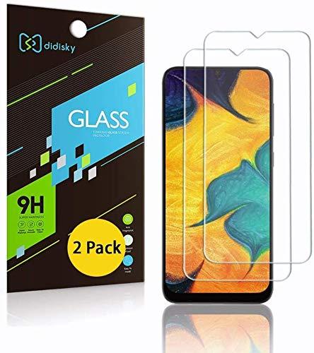 Didisky Pellicola Protettiva in Vetro Temperato per Samsung Galaxy A50 / M31 / M21 / A30S / A30 / A50S / A20S, [2 Pezzi] Protezione Schermo [Tocco Morbido ] Facile da Pulire, Trasparente