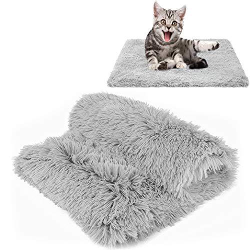 CHMMY Flauschig Hundedecke Weiche Katzendecke Fleecedecke Waschbare Deck für Haustier Hunde Katzen Welpen Weiche Warme Matte für Haustier Hunde Katze Welpe (Grey S:36*56cm)