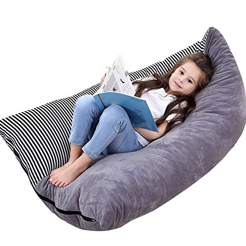 Stuffed Animal Toy Storage Bean Bag Soft Velvet Kids Toy Storage Organizer Stuffie Seat Foldable Floor Chair Sofa Seat Cover for Kids, Teens and Adults Extra Large 35 x 50 x 30 inches