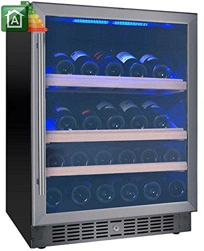 Enfriador de vino de 40botellas Nevada yw-nw40s-s botellero de madera simple Temperatura de _ 5°C a _ 22°C Clase energética A Puerta y asa inoxidable