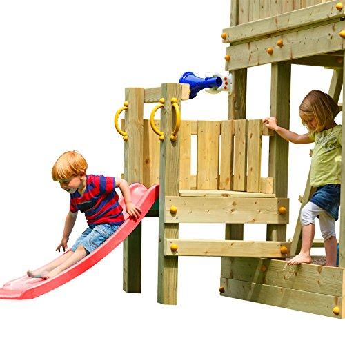 Demmelhuber Blue Rabbit 2.0 Podest mit Rutsche @Platform Spielturm Rutsche Babyrutsche Spielturmzubehör