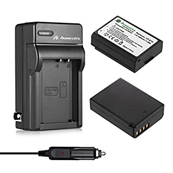 Powerextra 2 Pack LP-E10 Batteries and Charger Replacement for Canon EOS Rebel T3 T5 T6 T7 Kiss X50 Kiss X70 EOS 1100D EOS 1200D EOS 1300D EOS 2000D EOS 1500D Digital Cameras