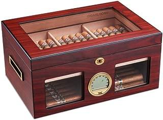HUIJINCHAOSHI Cigarette Case, Cedar Wood Cigarette Case, Double Transparent Sunroof, Moisturizing And Moisturizing Cigar Case, Ebony. Fashion