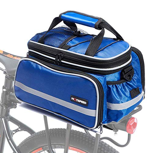 Selighting Gepäckträgertasche wasserdichte Fahrradtasche Hinterradtasche Gepäckträger Tasche mit Regenhülle (Blau)