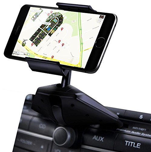 Car CD slot Mobile Holder – Good Quality Easy to Install 360 degrees rotation Car Mount Holder stand for smartphones like iPhone 7, 6, 6S Plus 5S, 5C, 5, 4S, 4, Samsung Galaxy S2 S3 S4 S5 S6 S7 Edge/Plus Note 2 3 4 5 LG G2 G3 G4 G5 all smartphones up to 6″