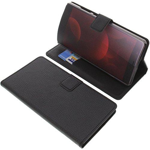 foto-kontor Tasche für Elephone C1 Max Book Style schwarz Kreditkarte Schutz Hülle Buch