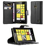 Cadorabo Funda Libro para Nokia Lumia 520 en Negro Fantasma - Cubierta Proteccíon con Cierre Magnético, Tarjetero y Función de Suporte - Etui Case Cover Carcasa