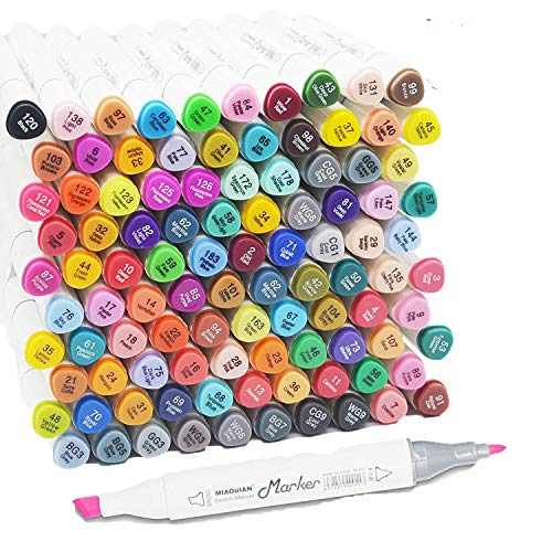 100 Colors Artist Alcohol Markers Dual Tip Art Markers Twin Sketch Markers Pens Permanent Alcohol Based Markers with Case for Adult Kids Coloring Drawing Sketching Card Making Illustration