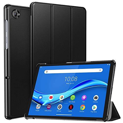 ZtotopCase Cover Custodia per Lenovo Tab M10 Plus 2020, Ultra Sottile Smart Cover in Pelle, con Funzione di Stand Flip Copertina Smart Cover per Lenovo Tab M10 FHD Plus 10.3 (TB-X606F/TB-X606X), Nero