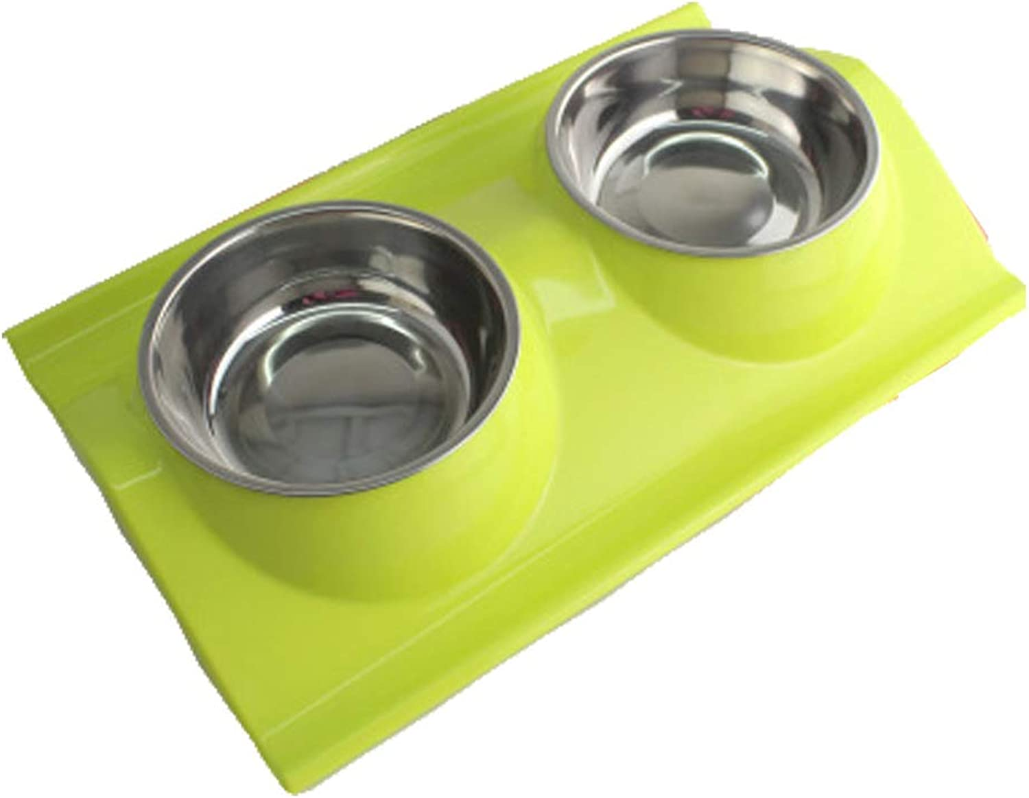 Double Stainless Steel Dog Cat Bowls with NonSpill Design, for Pet Food and Water Feeder Easy to Clean