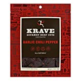 KRAVE Garlic Chili Pepper Beef Jerky 4 Pack | Premium Chef Crafted Meat Cuts With Unique Flavors and...