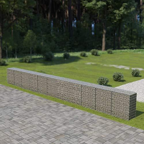 UnfadeMemory Gaviones de Piedra con Cubiertas,Muro de Gaviones,Decorativos para Jardin,Acero Galvanizado (900x50x100cm)
