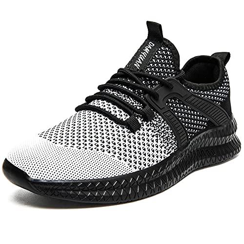 Sneaker Herren Schuhe Sportschuhe Turnschuhe Laufschuhe Leichtgewichts Männer Schuhe Tennisschuhe Joggingschuhe Fitnessschuhe Walking Running Shoes,Alles Schwarz,40 EU
