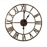 Mengshen Reloj De Pared con Números Romanos Gigantes - 15.7 Pulgadas, Dorado