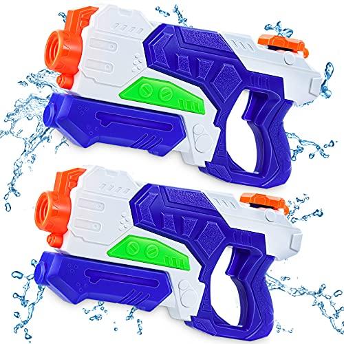 lenbest Pistole ad Acqua Bambini, Pistola Spruzzo a Lungo Raggio Circa 10 metri, Acqua Giocattolo per Bambini e Adulti - All'Aperto Nuoto Piscina Giardino Spiaggia Feste (600ml)