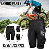 HEROBIKER - Pantalones de protección para motocicleta, motocross y esquí, diseño de Hockey Knight, Hombre, negro, medium