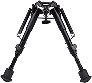 TMS 6 Inch To 9 Inch Adjustable Spring Return Sniper Hunting Rifle Bipod Sling Swivel