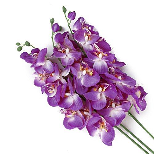 Vosarea Simulation Schmetterling Orchideen gefälschte Schmetterling Orchidee Blume Hochzeit Mittelstücke dekorative künstliche Blumen (lila)