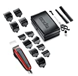 Andis 75360 Adjustable Blade Clipper Easy Cut 20-Piece Haircutting Kit, Red/Black