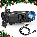 Beamer, TENKER Heimkino Videoprojektor Multimedia Mini 5.0' LCD Beamer 2400 Lumen Full HD...
