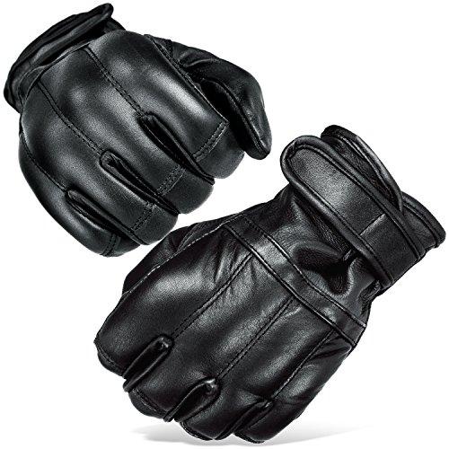 Black Snake Herren Quarzsandhandschuhe Quarzsand Handschuhe S-XXL Defender in schwarz Security Schwarz/Fleecefutter XXL
