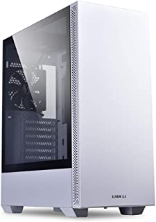 Lian Li Mid-Tower Chassis ATX Computer Case PC Gaming Case w/Tempered Glass Side Panel, Magnetic Dust Filter,Water-Cooling Ready, Side Ventilation and 2x120mm Fan Pre-Installed (LANCOOL 205, White)