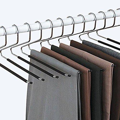 Set di 12 - Gruccia Pantaloni - piega intelligente - Anti scorrevolezza - Scelta e facile da riporre