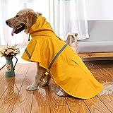 MDKAZ Clothes for Pets Pet Clothes Cloak Hooded Rain Jacket Tape Dog RaincoatTeddy Golden Retriever...