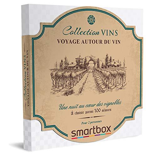 SMARTBOX - coffret cadeau couple - Voyage autour du vin - idée cadeau originale - 1 nuit, 1 petit-déjeuner et 1 atelier œnologie pour 2 personnes