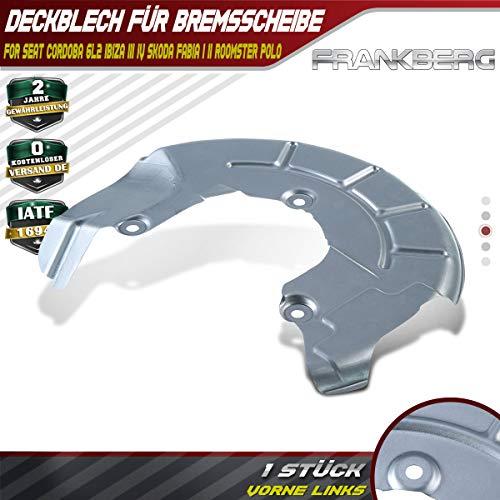 Deckblech Spritzblech Ankerblech Bremsscheibe Vorne Links für Fabia I II Ibiza III IV Cordoba 1999-2019 6R0615311