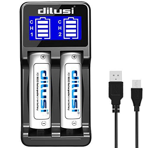 Dilusi i4 chargeur de piles rapide LCD, multiples formats acceptés