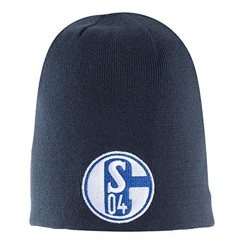 FC Schalke 04 Wendemütze Wendebeanie Wintermütze Beanie (one Size, blau)