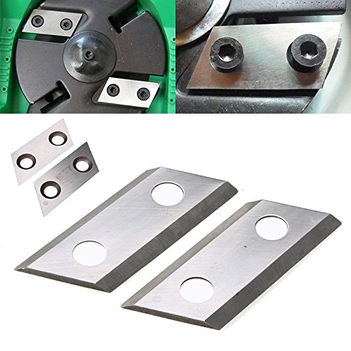 Purchase 2pcs Garden Shredder Chipper Blades Cutters Kit 2 Hole Metal Garden Cut Blades Tools Set
