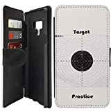 Flip Wallet Case Compatible with Galaxy Note 9 (Target Practice Shooting) with Adjustable Stand and 3 Card Holders | Shock Protection | Lightweight | Includes Free Stylus Pen by Innosub