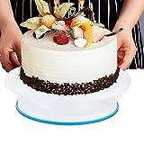 6 Unids/set Placa giratoria de decoración de pasteles de cocina, Soporte giratorio de exhibición de pasteles con raspador Herramienta de bricolaje para decorar, Placa giratoria de decoración de pastel