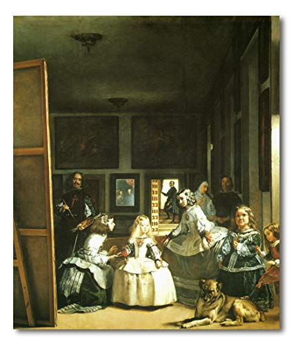 Cuadro Decoratt: Las Meninas - Diego Velazquez 99x75cm. Cuadro de impresion directa.