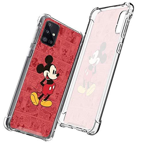 DISNEY COLLECTION Carcasa transparente para Samsung Galaxy A51 5G, diseño de Mickey Clubhouse Mouse