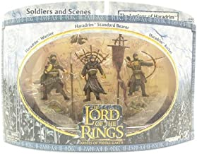 NewLine 2004 / Play Along - Lord of The Rings : Armies of Middle Earth - The Legions of Haradrim Set : w/ Haradrim Warrior / Archer / Standard Bearer - Battle Scale Figures - Collectible