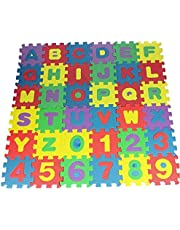 Schuimrubberen pad, 36 stuks DIY puzzel-speelmatten baby zachte ontwikkeling vloerbedekking schuim crawling digitaal schrijven tapijten voor baby's