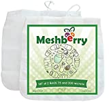 Meshberry Nut Milk Bag - Cheesecloth and Food Strainer - Almond Milk, Juice, Cottage Cheese, Greek Yogurt Maker - Durable & Reusable Bag - Fine Mesh Nylon - size 12x12 200 Micron