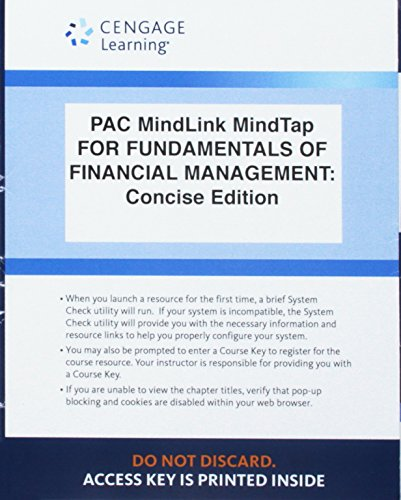 LMS Integrated for MindTap Finance, 1 term (6 months) Printed Access Card for Brigham/Houston's Fundamentals of Financia