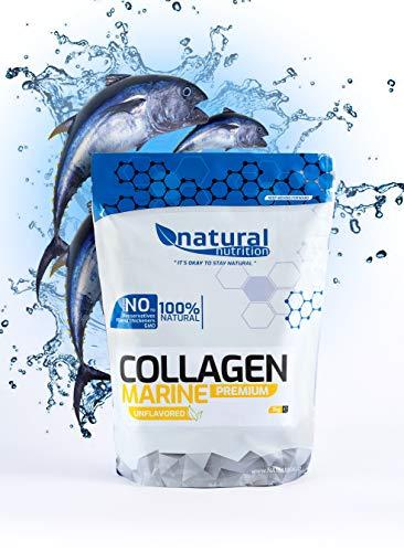 Natural Nutrition Marine Fisch Kollagen Hydrolysat Pulver - Natürliche Unterstützung für einen gesunden und vitalen Körper - Geschmacksneutral, Hergestellt in der EU (400g)