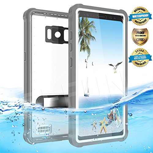 Samsung Galaxy S8 Waterproof Case, Effun IP68 Certified Waterproof Underwater Cover Dustproof Snowproof Shockproof Case with Kick Stand, PH Test Paper and Floating Strap for Samsung S8 (5.8inch) White