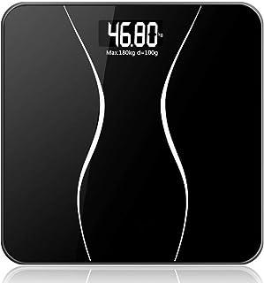 ShiSyan Balanza Báscula Cuerpo, Báscula de Suelo Digital Inteligente electrónicos de Uso doméstico con Pantalla LCD, 180Kg / 400 Libras Negro Básculas Digitales
