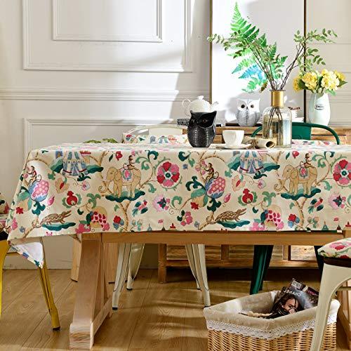 PhantasyIsland.com Nappe de Table de résistante aux et antidérapante pour Le Jardin, Le Balcon et Le Camping 140x140cm