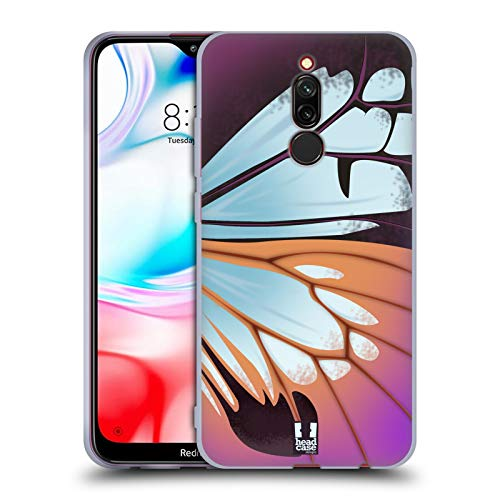 Head Case Designs Parantica Sita Illustrated Butterfly Wing Soft Gel Case Compatible for Xiaomi Redmi 8