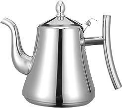 Angoily 2L Bule De Chá De Aço Inoxidável Bule De Chá Punho Chaleira Bule Com Infusor de Chá Quente para O Fogão de Indução...