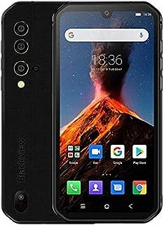 BLACKVIEW BV9900 Helio P90 Octa Core 8 GB + 256 GB IP68 Rugged Android 9.0 48MP QuadリアカメラNFCスマートフォン (黒)