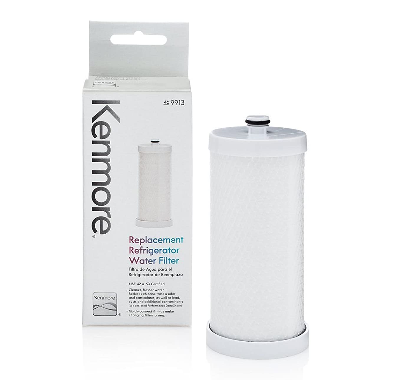 Kenmore 9913 Genuine Kenmore Refrigerator Water Filter for FRIGIDAIRE,CROSLEY,WHITE-WESTINGHOUSE,GIBSON,KENMORE Genuine Original Equipment Manufacturer (OEM) part