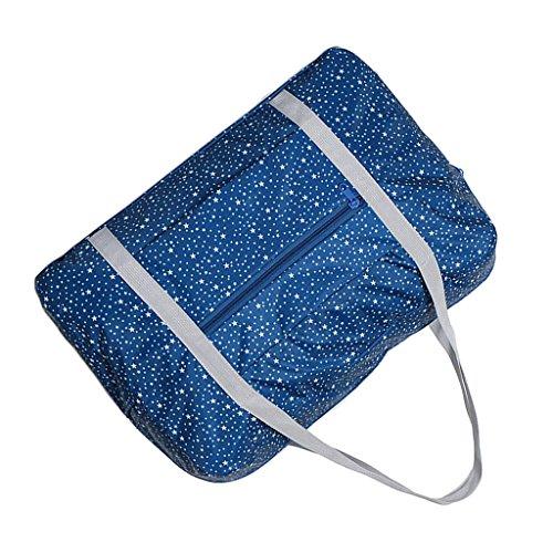Sharplace Sac de Stockage Avec Fermeture à Glissière Imperméable pour Vêtement Chaussures Sac Grande Taille pour Voyages Vacance - Bleu Foncé, 45x13x30cm